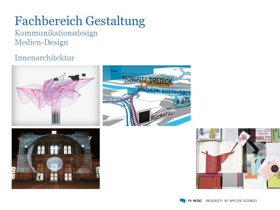 Fachbereich Gestaltung Kommunikationsdesign Medien-Design Innenarchitektur