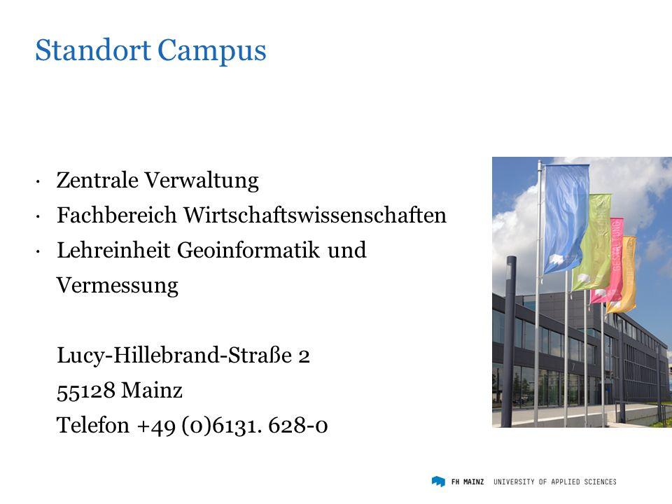 Standort Holzstraße ·Fachbereich Technik ·Fachbereich Gestaltung Holzstraße 36 55116 Mainz Telefon +49 (0)6131.