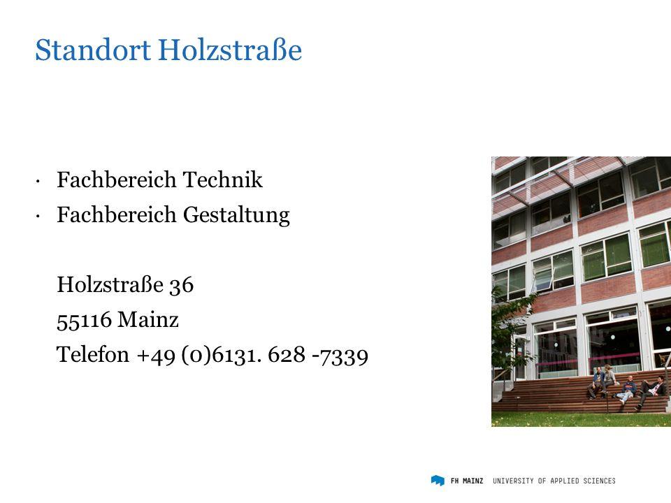 Standort Wallstraße ·Institut für Mediengestaltung ·Studiengang Zeitbasierte Medien Wallstraße 11 55122 Mainz Telefon +49 (0)6131.