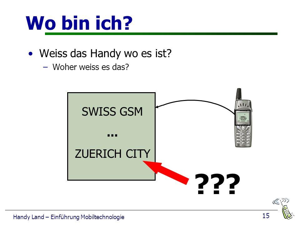 15 Handy Land – Einführung Mobiltechnologie Wo bin ich.