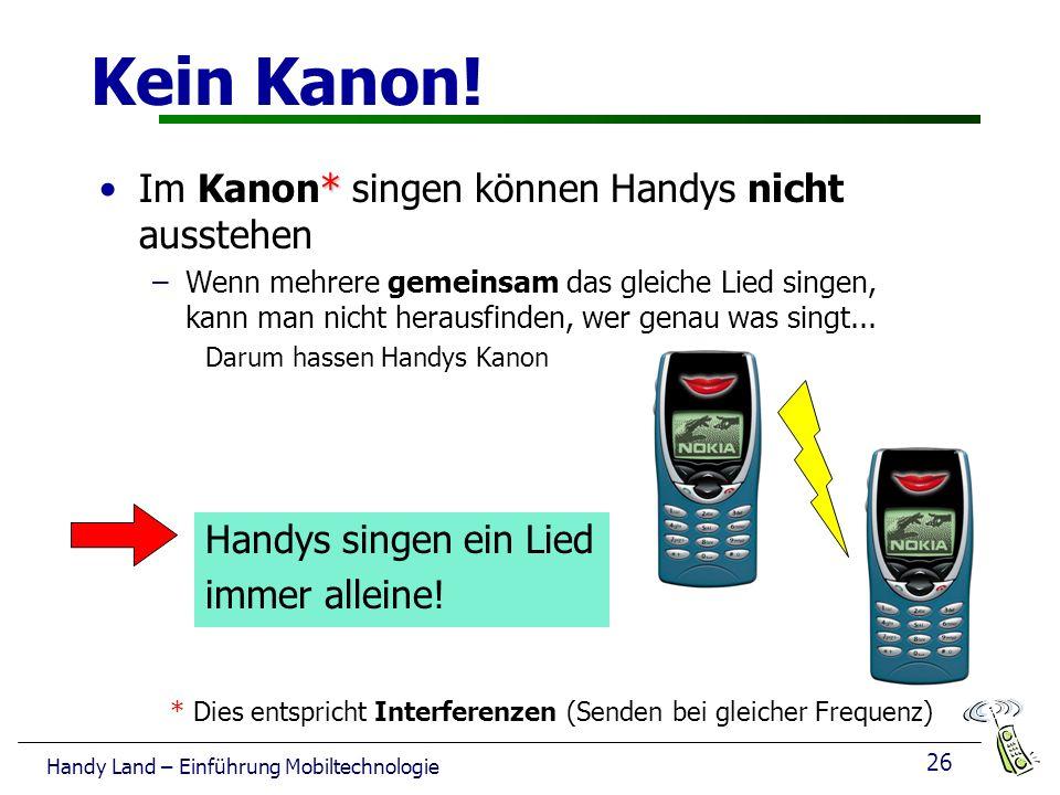 26 Handy Land – Einführung Mobiltechnologie Kein Kanon.
