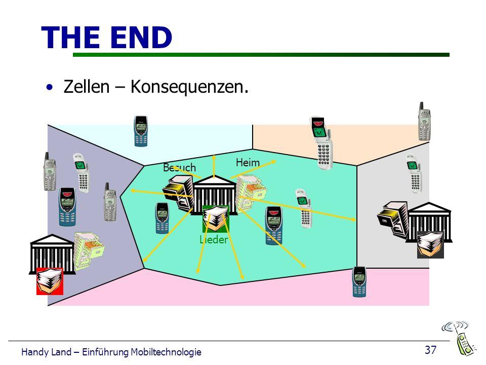 37 Handy Land – Einführung Mobiltechnologie THE END Heim Besuch Lieder Zellen – Konsequenzen.