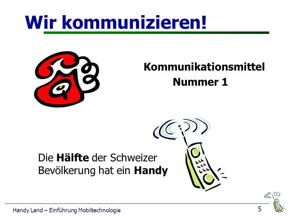 5 Handy Land – Einführung Mobiltechnologie Wir kommunizieren.