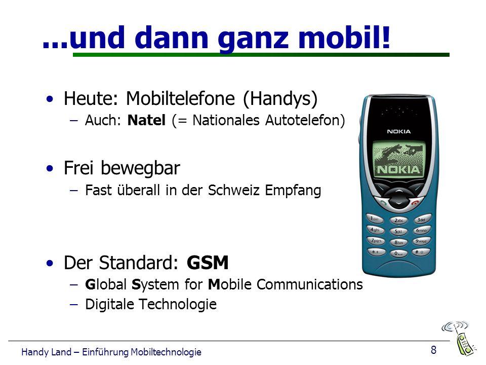 8 Handy Land – Einführung Mobiltechnologie...und dann ganz mobil.