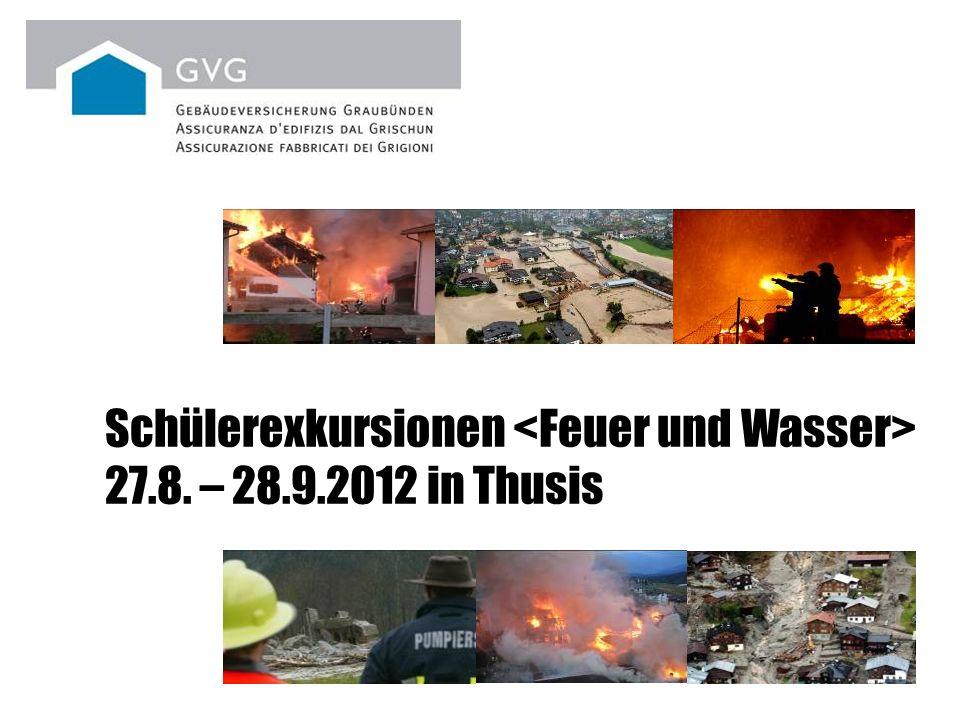 Schülerexkursionen 27.8. – 28.9.2012 in Thusis