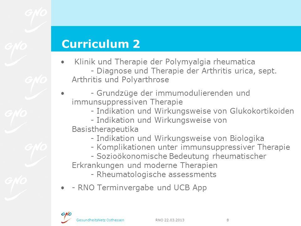 GesundheitsNetz Osthessen RNO 22.03.2013 8 Klinik und Therapie der Polymyalgia rheumatica - Diagnose und Therapie der Arthritis urica, sept. Arthritis