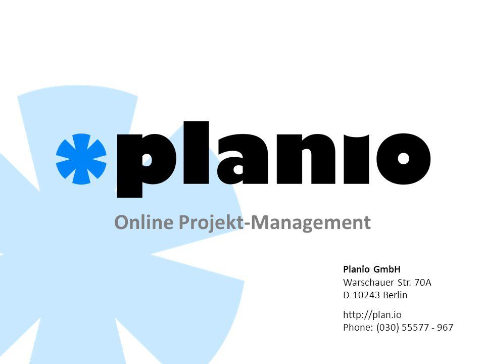 Online Projekt-Management Planio GmbH Warschauer Str.