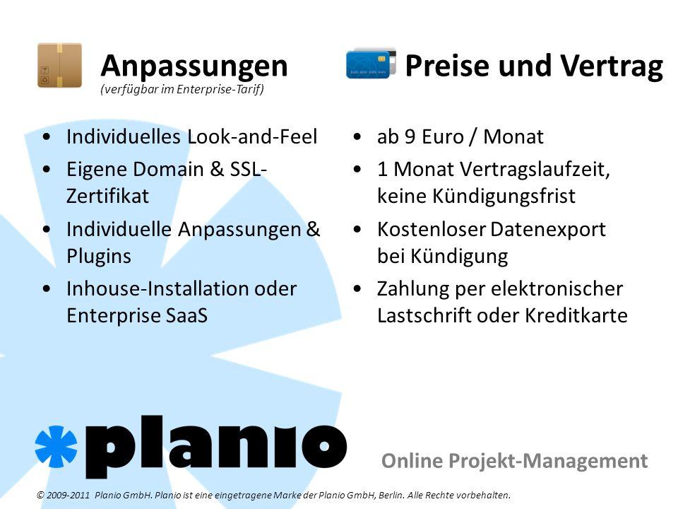 Online Projekt-Management © 2009-2011 Planio GmbH.