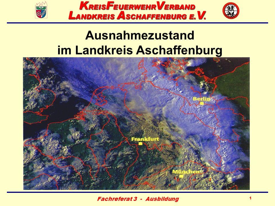 Fachreferat 3 - Ausbildung 12 Abschnittsführungsstelle (AFS) –1- Standort (Feuerwehrgerätehaus): –Großostheim (Bezirk 2/1) –Laufach (Bezirk 2/2) –Waldaschaff (Bezirk 2/3) –Kahl (Bezirk 3/1) –Mömbris (Bezirk 3/2) –Schöllkrippen (Bezirk 3/3)