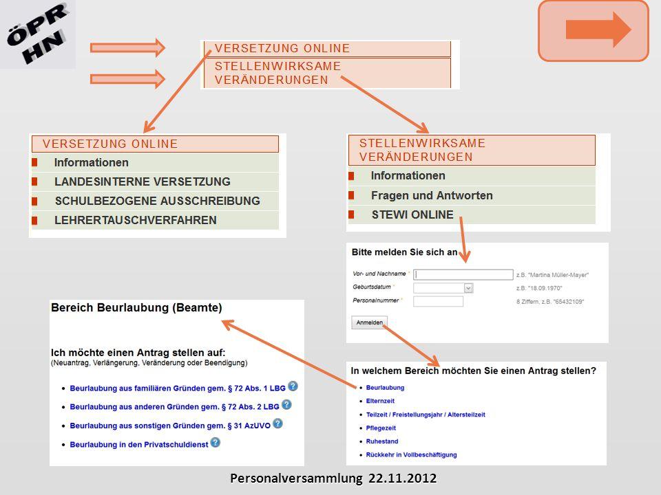 Personalversammlung 22.11.2012