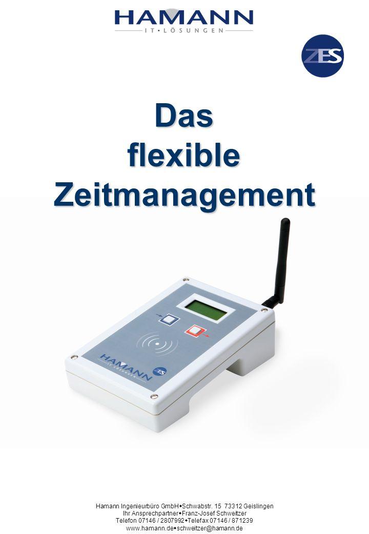 Das System für flexibles Zeitmanagement Der Ersatz für Projektberichte und Stundenzettel Hamann Ingenieurbüro GmbH Schwabstr.