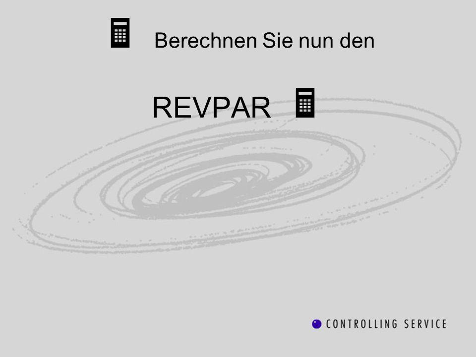 Berechnen Sie nun den REVPAR