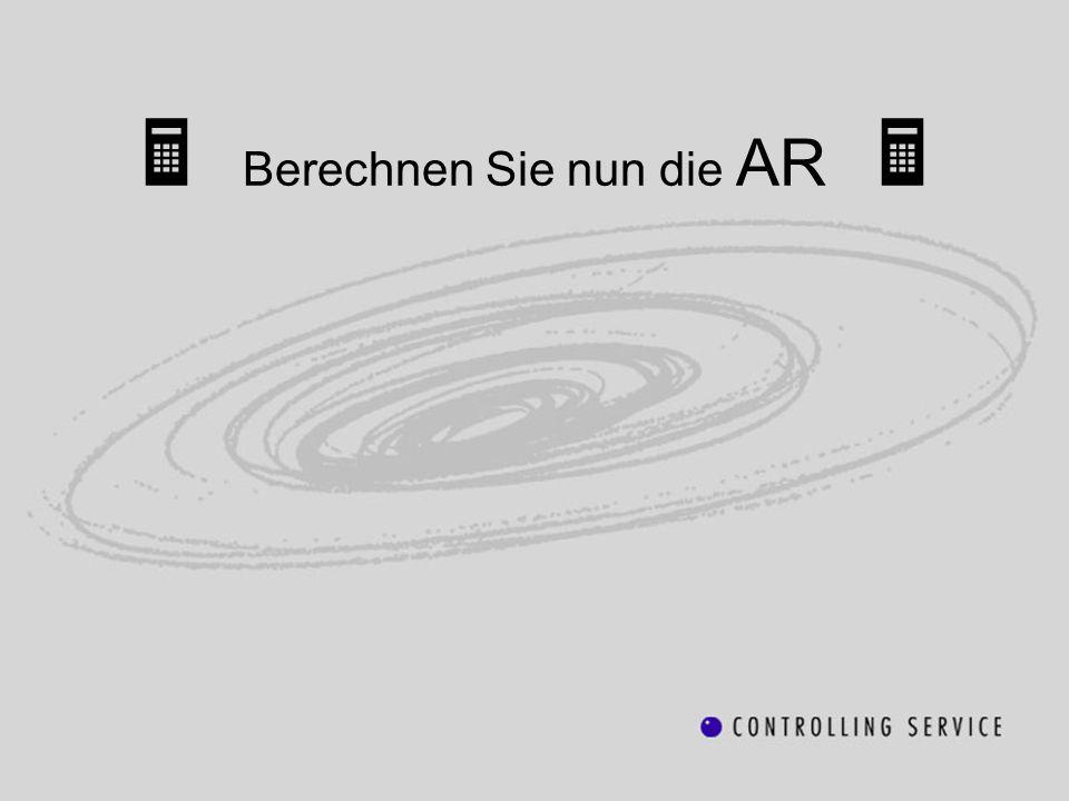 Berechnen Sie nun die AR