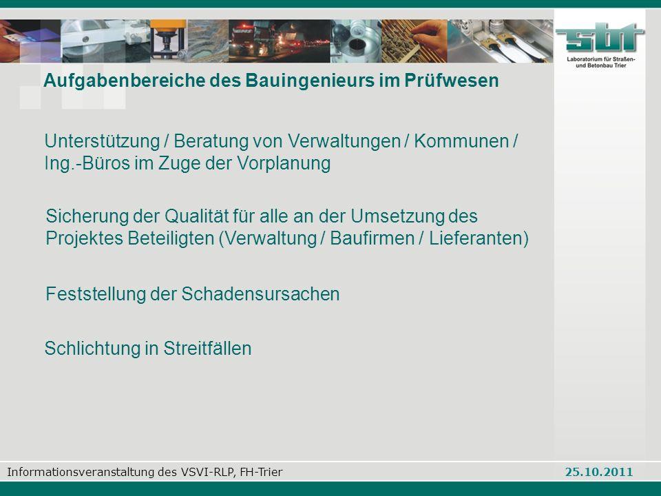 Informationsveranstaltung des VSVI-RLP, FH-Trier 25.10.2011 Alkuinstraße 9 - 54292 Trier Telefon: 06 51 / 710 30-0 Telefax: 06 51 / 710 30-71 E-Mail: info@sbt-trier.de Web: www.sbt-trier.de Alkuinstraße 9 - 54292 Trier Telefon: 06 51 / 710 30-0 Telefax: 06 51 / 710 30-71 E-Mail: info@sbt-trier.de Web: www.sbt-trier.de