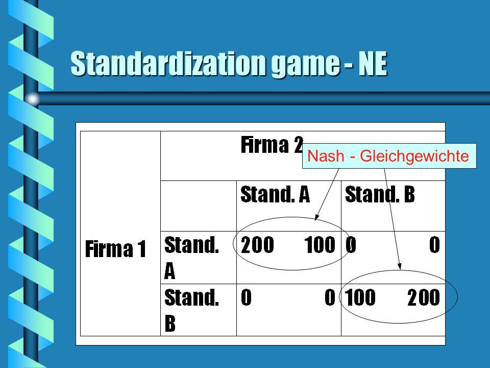 Standardization game - NE Nash - Gleichgewichte