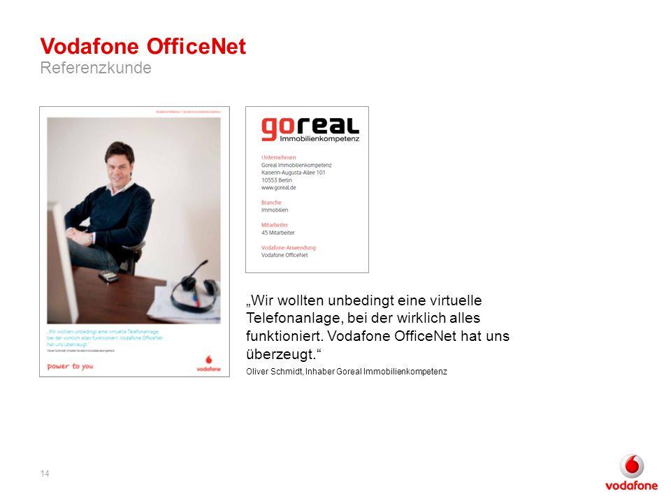 Wir wollten unbedingt eine virtuelle Telefonanlage, bei der wirklich alles funktioniert. Vodafone OfficeNet hat uns überzeugt. Oliver Schmidt, Inhaber