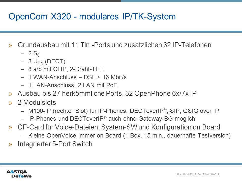 © 2007 Aastra DeTeWe GmbH.OpenCTI 50 - Telefonbuch »Max.