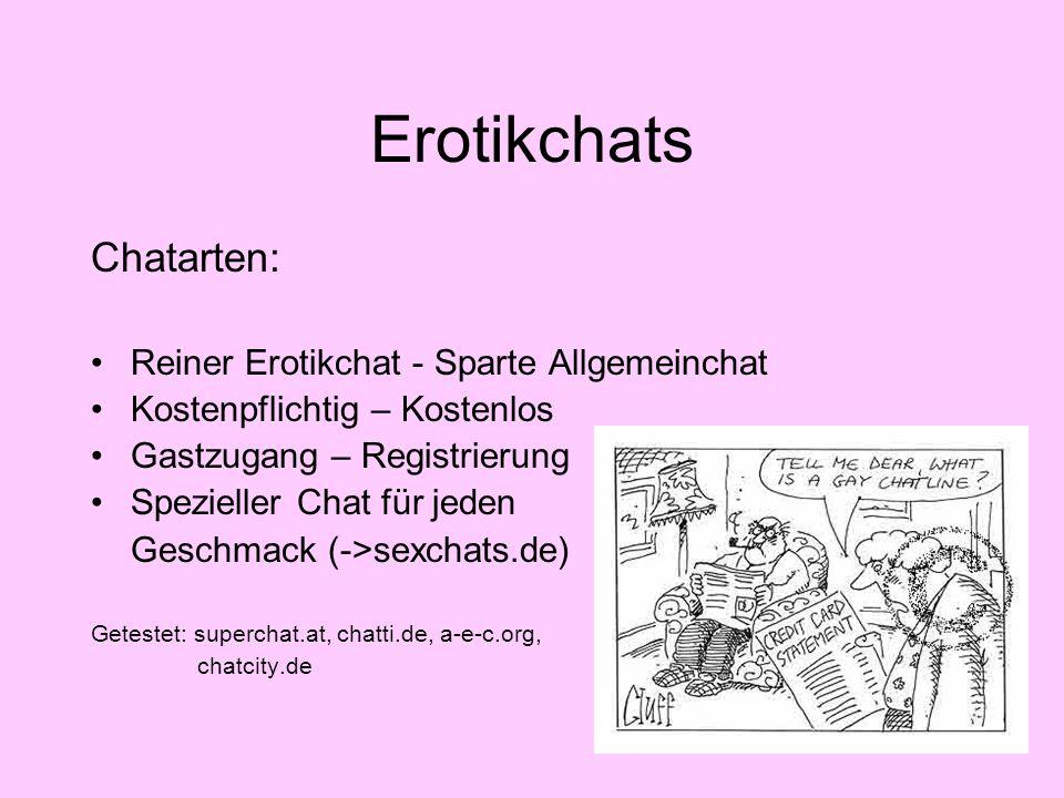 Erotikchats Der Privatchat – und jetzt.