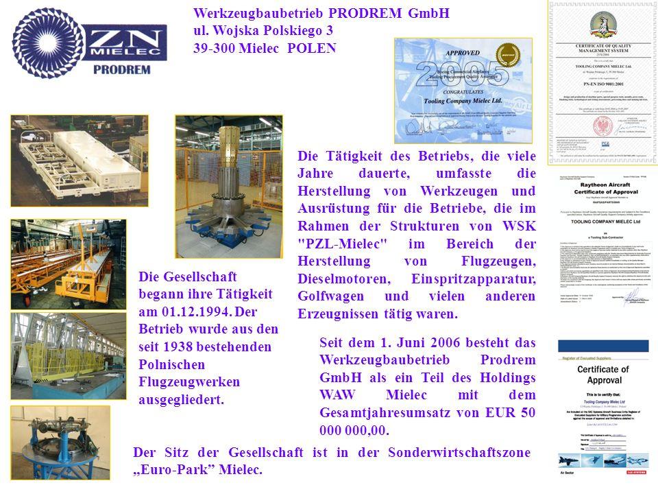 Werkzeugbaubetrieb PRODREM GmbH ul.