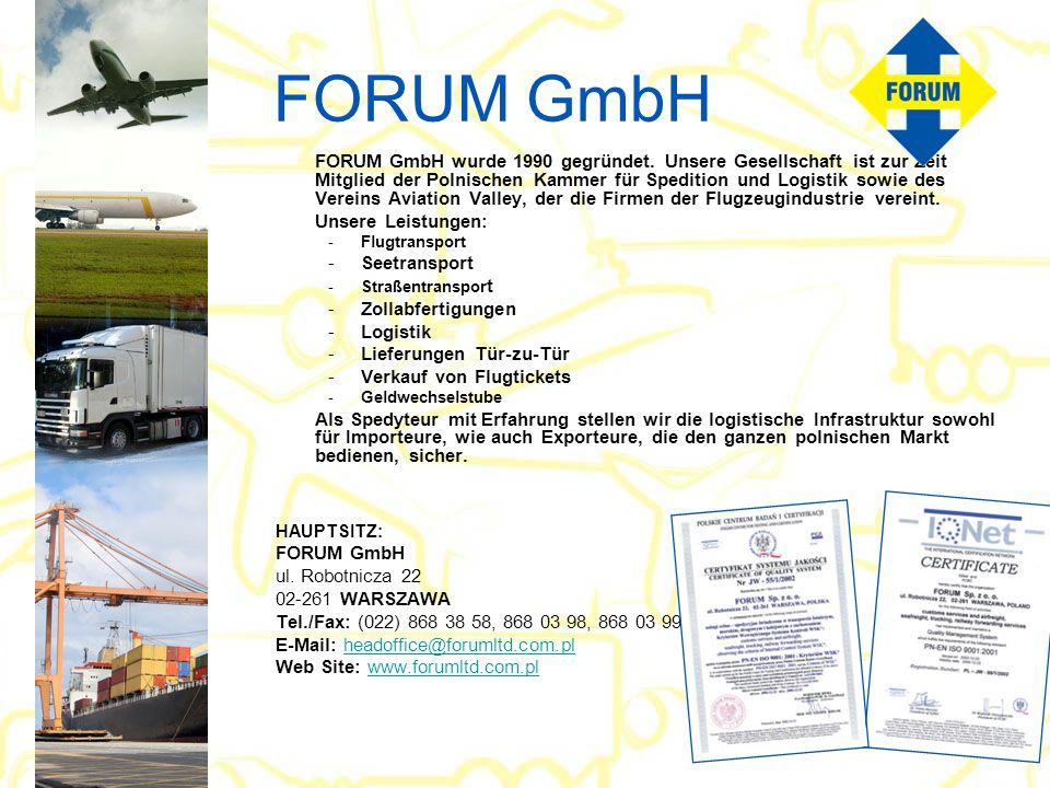 FORUM GmbH FORUM GmbH wurde 1990 gegründet.