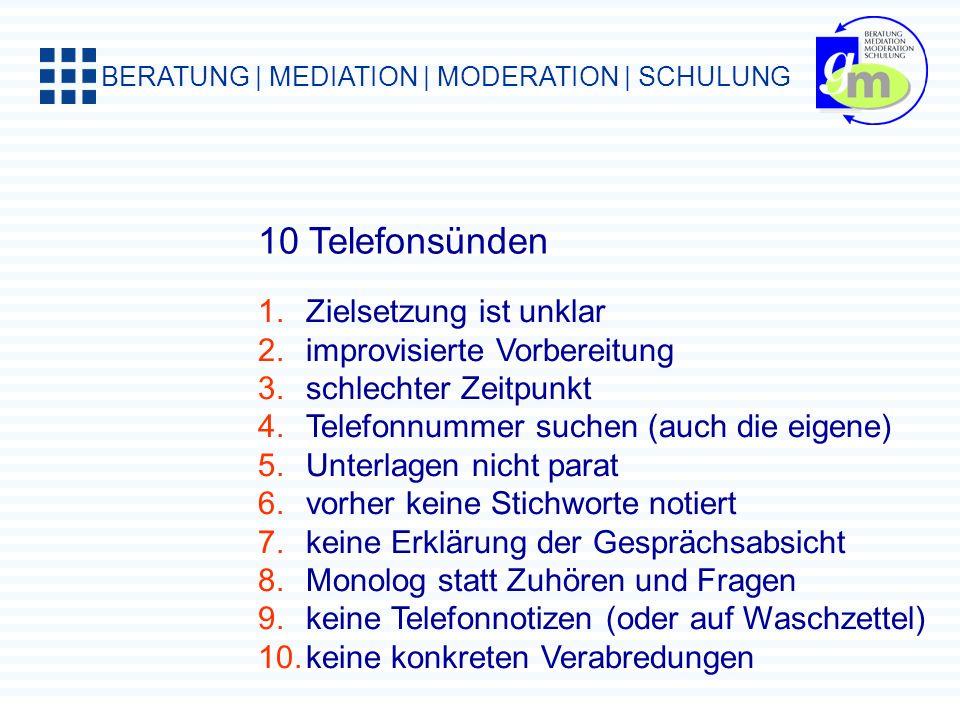 BERATUNG | MEDIATION | MODERATION | SCHULUNG Das Eisenhower-Prinzip A-Aufgaben, dringlich + wichtig, selbst + sofort erledigen B-Aufgaben, hohe Wichti