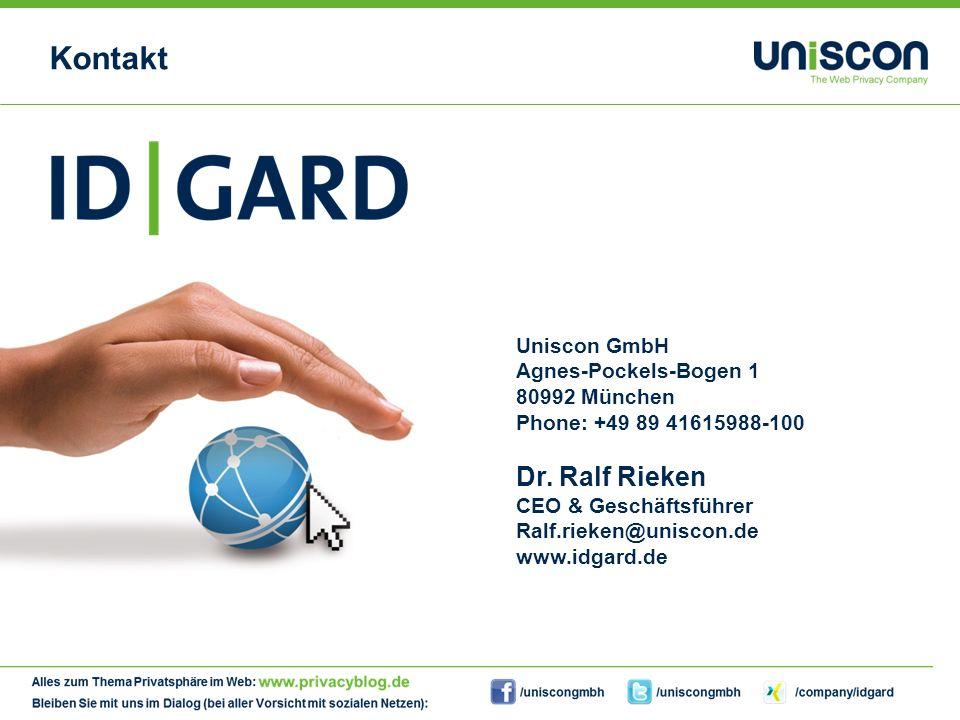 15Copyright Uniscon GmbH 201315 Kontakt Uniscon GmbH Agnes-Pockels-Bogen 1 80992 München Phone: +49 89 41615988-100 Dr.
