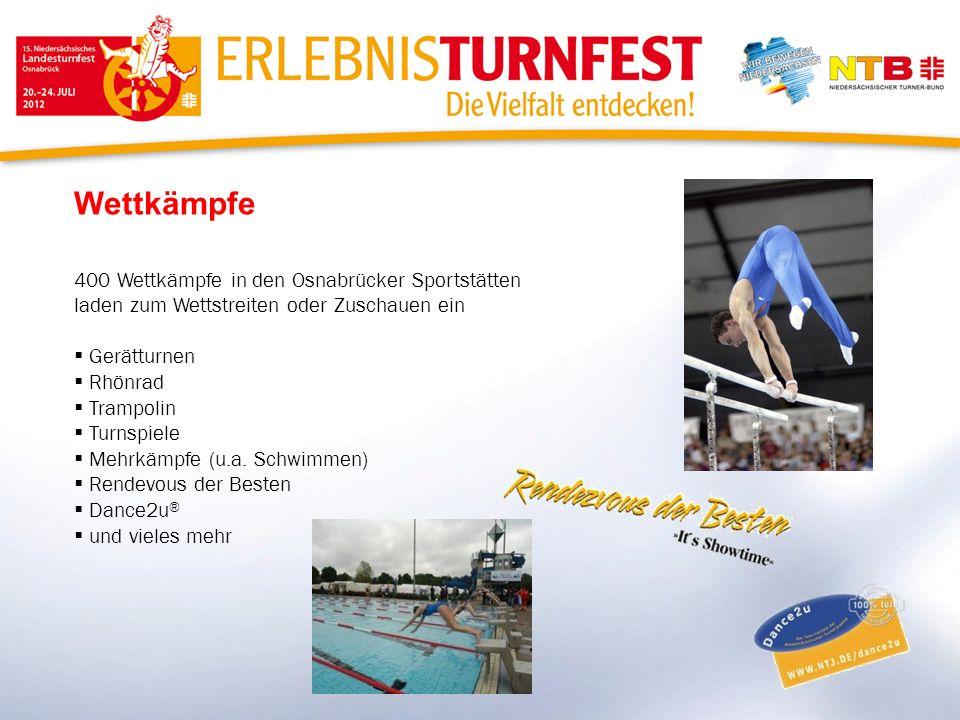 Wettkämpfe 400 Wettkämpfe in den Osnabrücker Sportstätten laden zum Wettstreiten oder Zuschauen ein Gerätturnen Rhönrad Trampolin Turnspiele Mehrkämpf