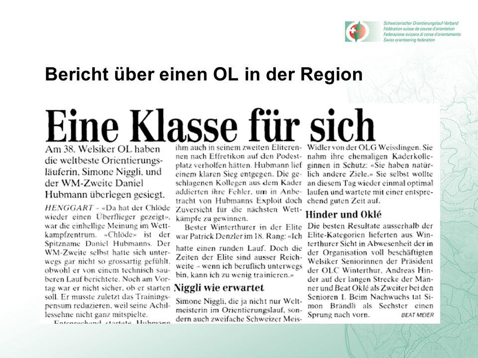 Bericht über einen OL in der Region