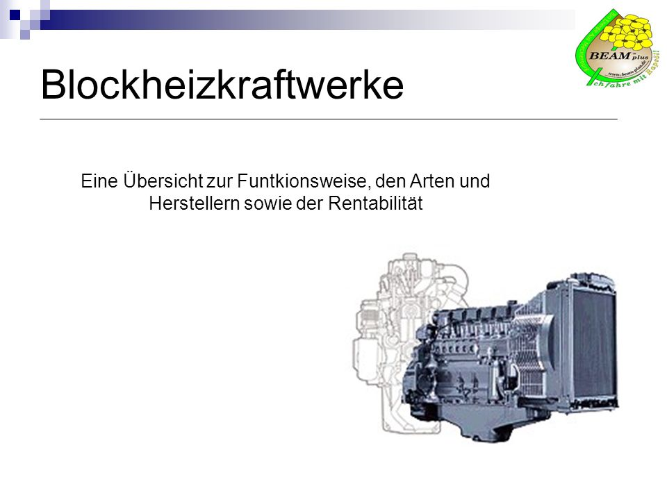 Buderus BBT Thermotechnik GmbH Herr Marco Bastian Justus-Kilian-Strasse 1 35457 Lollar Tel.: 06441 / 418-2855, Fax: 06441 / 418-2859 E-Mail: marco.bastian@buderus.de Internet: http://www.heiztechnik.buderus.demarco.bastian@buderus.de http://www.heiztechnik.buderus.de Produkte: Erdgas BHKW-Module 20-238 kW el.