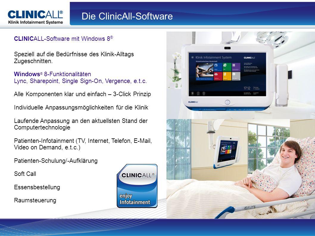 CLINICALL-Software mit Windows 8 ® Speziell auf die Bedürfnisse des Klinik-Alltags Zugeschnitten.