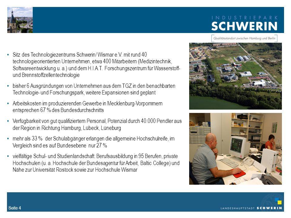Seite 4 Sitz des Technologiezentrums Schwerin/ Wismar e.V.