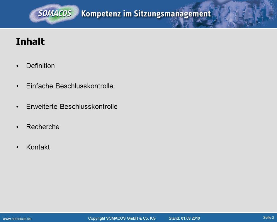 Seite 13 www.somacos.de Copyright SOMACOS GmbH & Co.