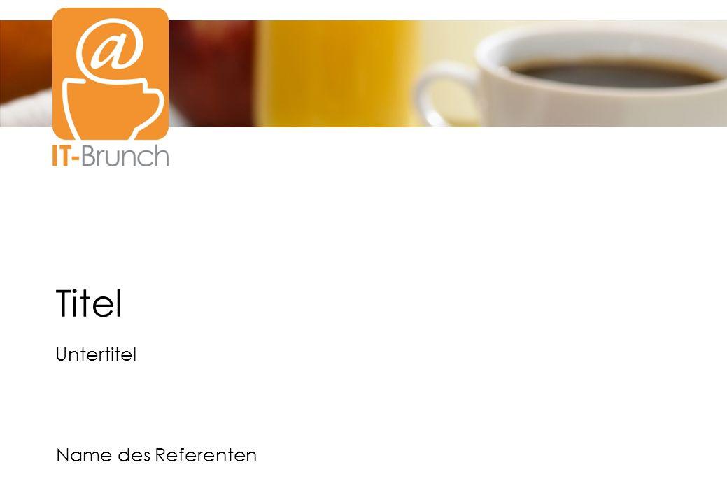 www.it-brunch.net Seite 2 Spielregeln für Referenten (1) @ Überzeugen Sie die Besucher durch Fachkompetenz, nicht durch lange Eigendarstellung.