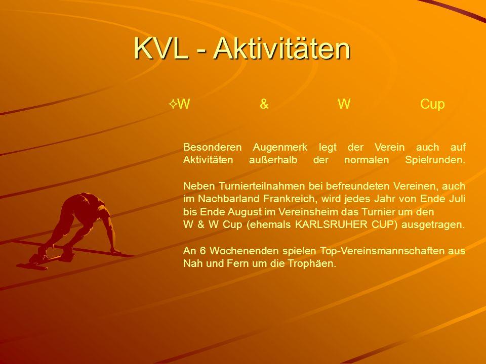 KVL - Aktivitäten Besonderen Augenmerk legt der Verein auch auf Aktivitäten außerhalb der normalen Spielrunden. Neben Turnierteilnahmen bei befreundet