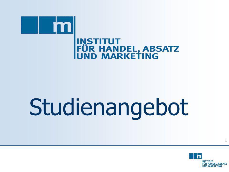 12 Master General Management Specialized Management Competence: Marketing & International Marketing Schwerpunkte: B2B Marketing, Int.