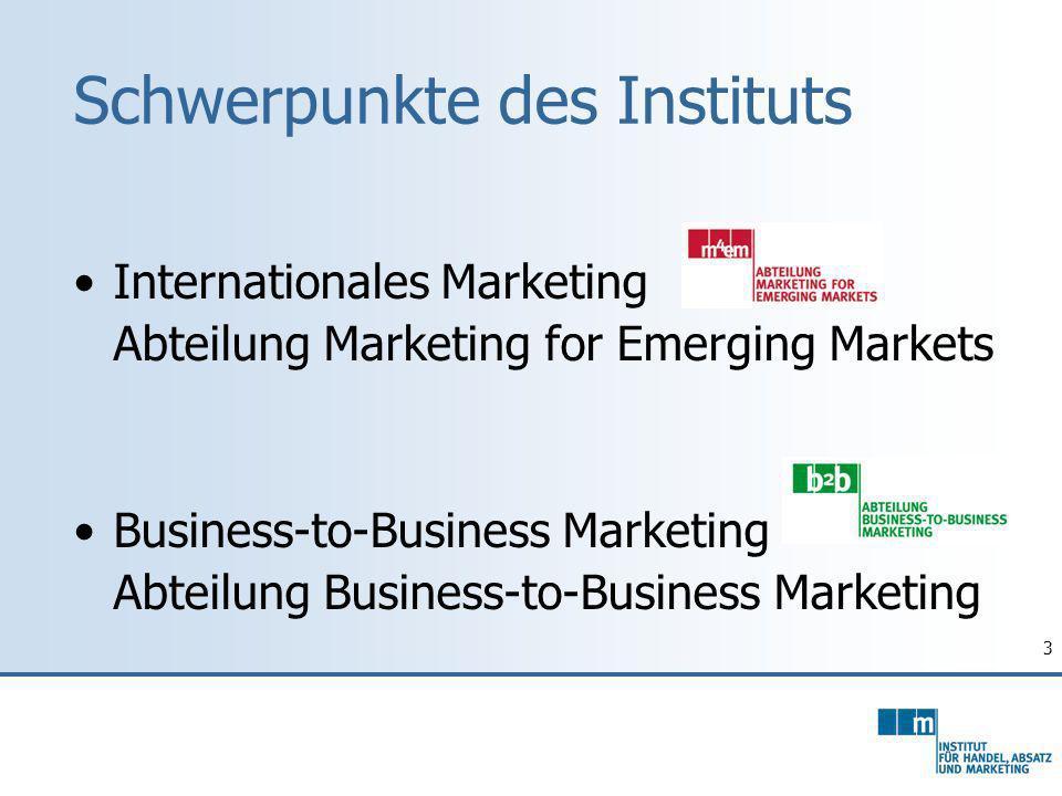 4 Unser Studienangebot Schwerpunktfach Marketing und Internationales Marketing (Bachelor WiWi, Diplomstudium WiWi neu) Spezialisierung Marketing Spezialisierung Internationales Marketing Master General Management Das InstitutStudien