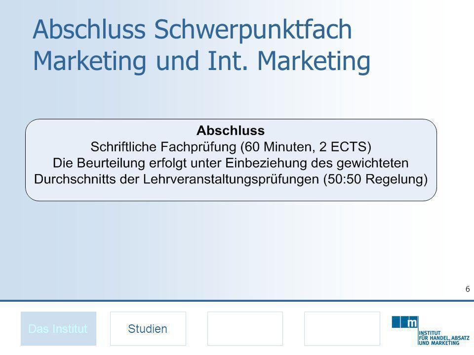 7 Spezialisierung Marketing Das InstitutStudien