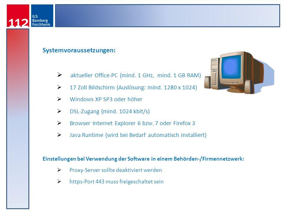 Systemvoraussetzungen: aktueller Office-PC (mind. 1 GHz, mind. 1 GB RAM) 17 Zoll Bildschirm (Auslösung: mind. 1280 x 1024) Windows XP SP3 oder höher D