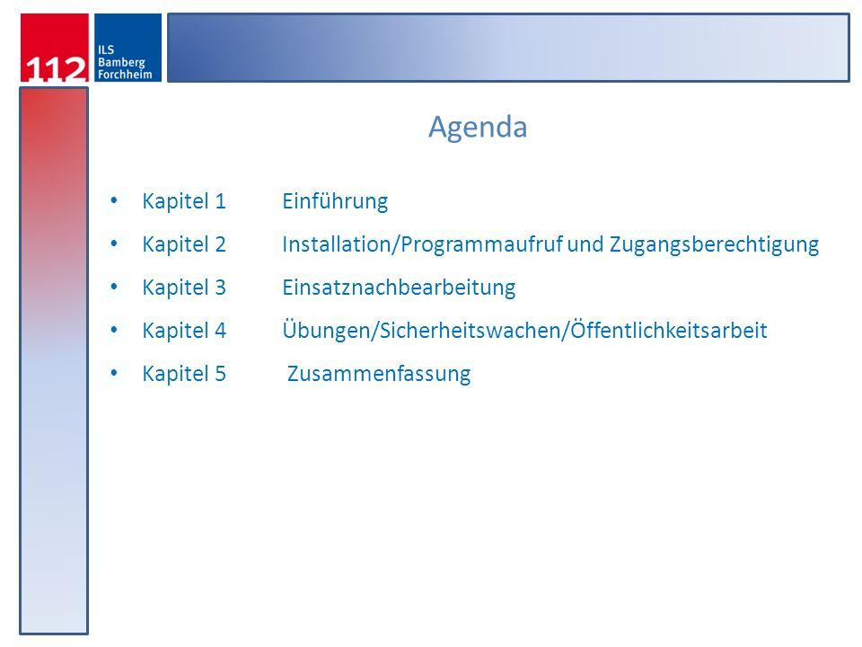Wichtige Funktionen in Kürze Aufrufen der Suchliste zur Einsatznach- bearbeitung Unter diesem Menüpunkt Kann das Passwort Geändert werden Aufrufen der Hilfefunktion