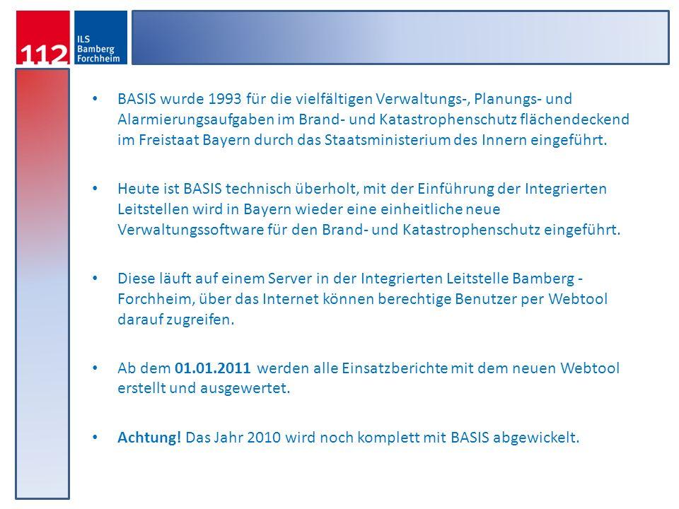 BASIS wurde 1993 für die vielfältigen Verwaltungs-, Planungs- und Alarmierungsaufgaben im Brand- und Katastrophenschutz flächendeckend im Freistaat Ba