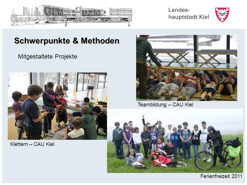 Schwerpunkte & Methoden Mitgestaltete Projekte Klettern – CAU Kiel Teambildung – CAU Kiel Ferienfreizeit 2011