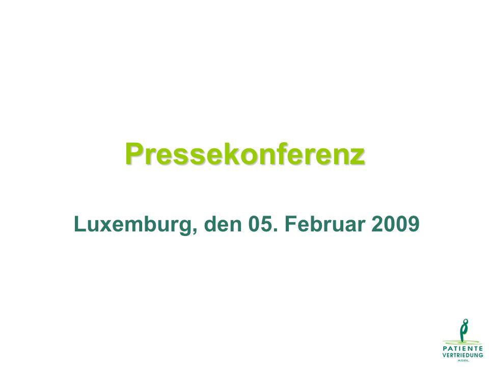 Pressekonferenz Luxemburg, den 05. Februar 2009