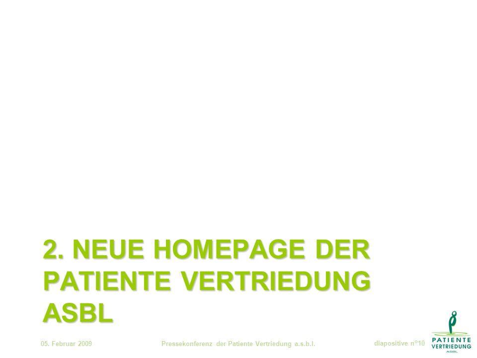 2. NEUE HOMEPAGE DER PATIENTE VERTRIEDUNG ASBL 05.