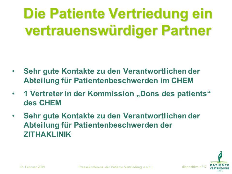Die Patiente Vertriedung ein vertrauenswürdiger Partner 05.