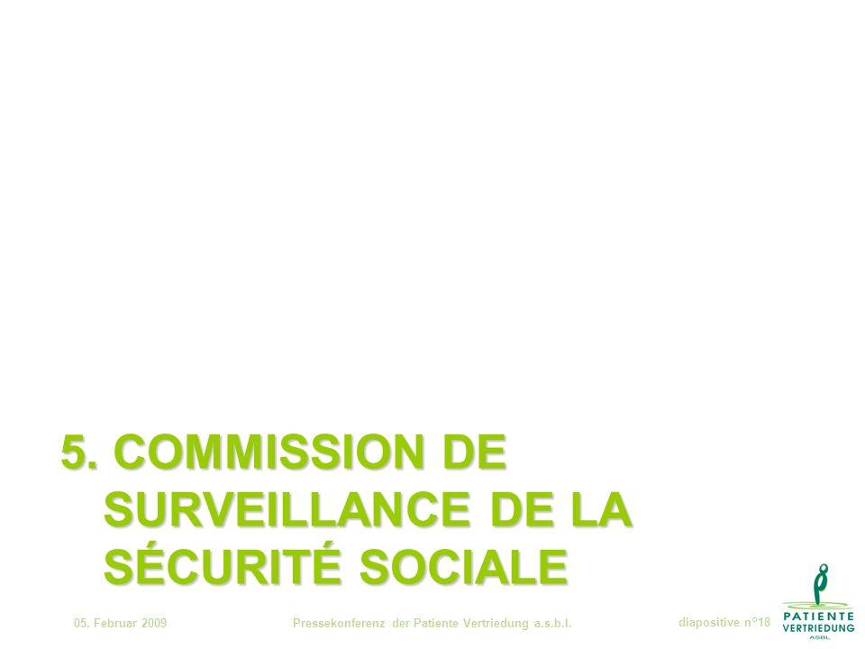 5. COMMISSION DE SURVEILLANCE DE LA SÉCURITÉ SOCIALE 05.