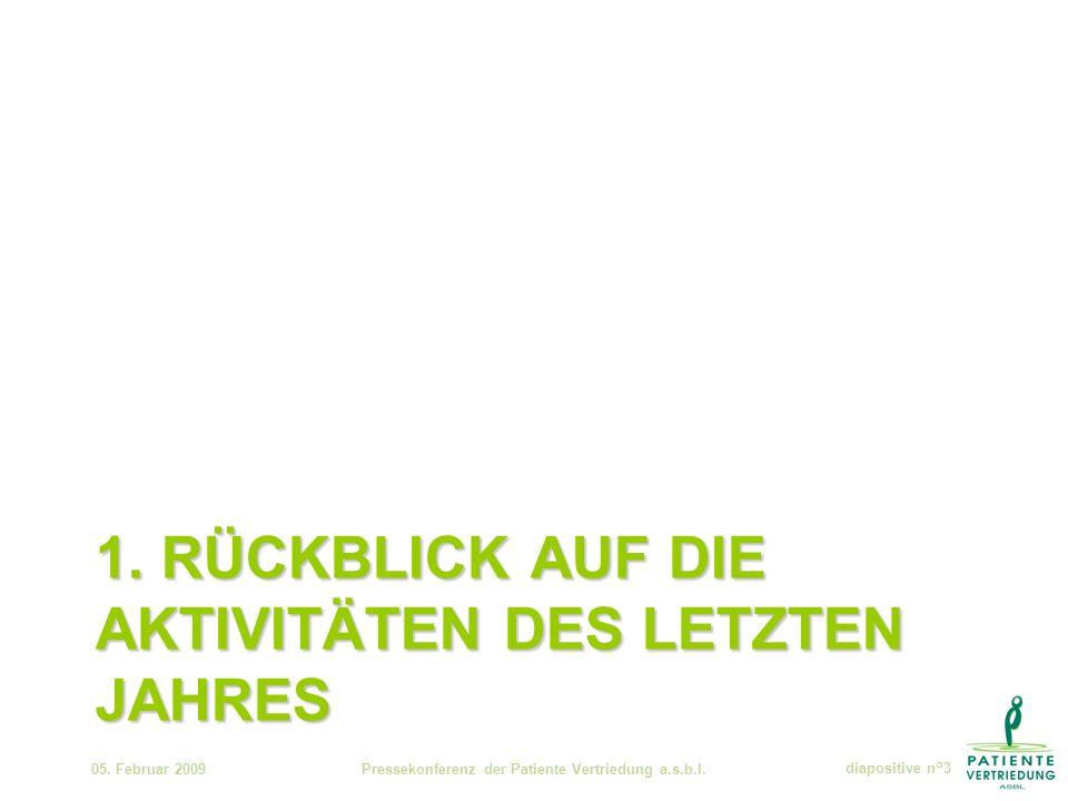 1. RÜCKBLICK AUF DIE AKTIVITÄTEN DES LETZTEN JAHRES 05.