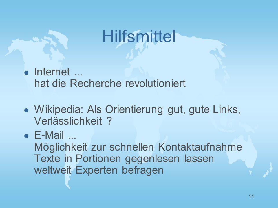 11 Hilfsmittel l Internet...