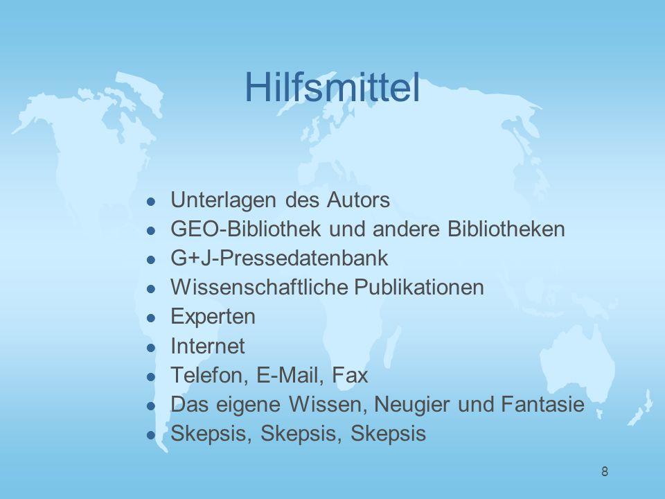 9 Hilfsmittel l Unterlagen des Autors l Der DOK-Brief l Annotierte Version