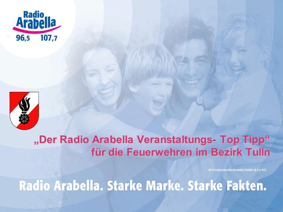Der Radio Arabella Veranstaltungs- Top Tipp für die Feuerwehren im Bezirk Tulln © Privatradio Mostviertel GmbH & Co KG