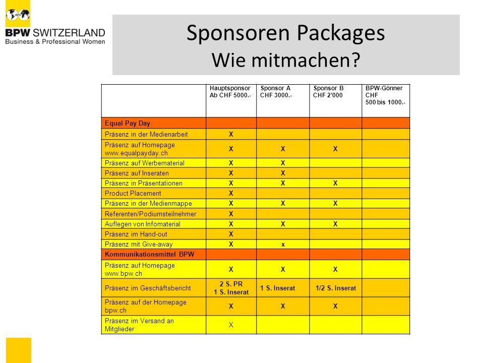 FLANKIERENDE MASSNAHMEN Starke Medienpartnerschaft (Presse) Nutzung aller Kommunikationskanäle von BPW PR-Arbeit schweizweit vor, an und nach EPD Nutzung der Kommunikationskanäle der Sponsoren Publikation Projekt und Unternehmen mit anschliessender PR dafür
